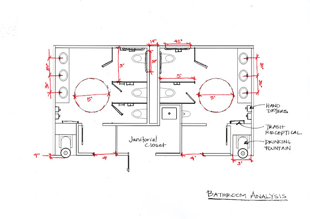 Gallery For Commercial Restroom Plan