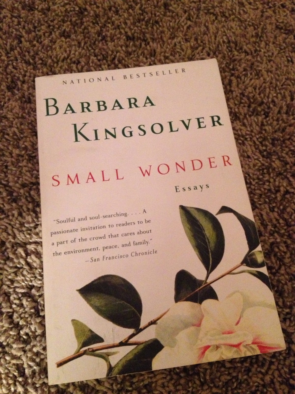 wethree  here s another barbara kingsolver book to add to your list these essays will help you start to notice the little miracles that happen around us each and