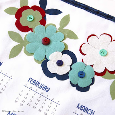 2016 DIY calendar panel fabric calendar by septemberhouse