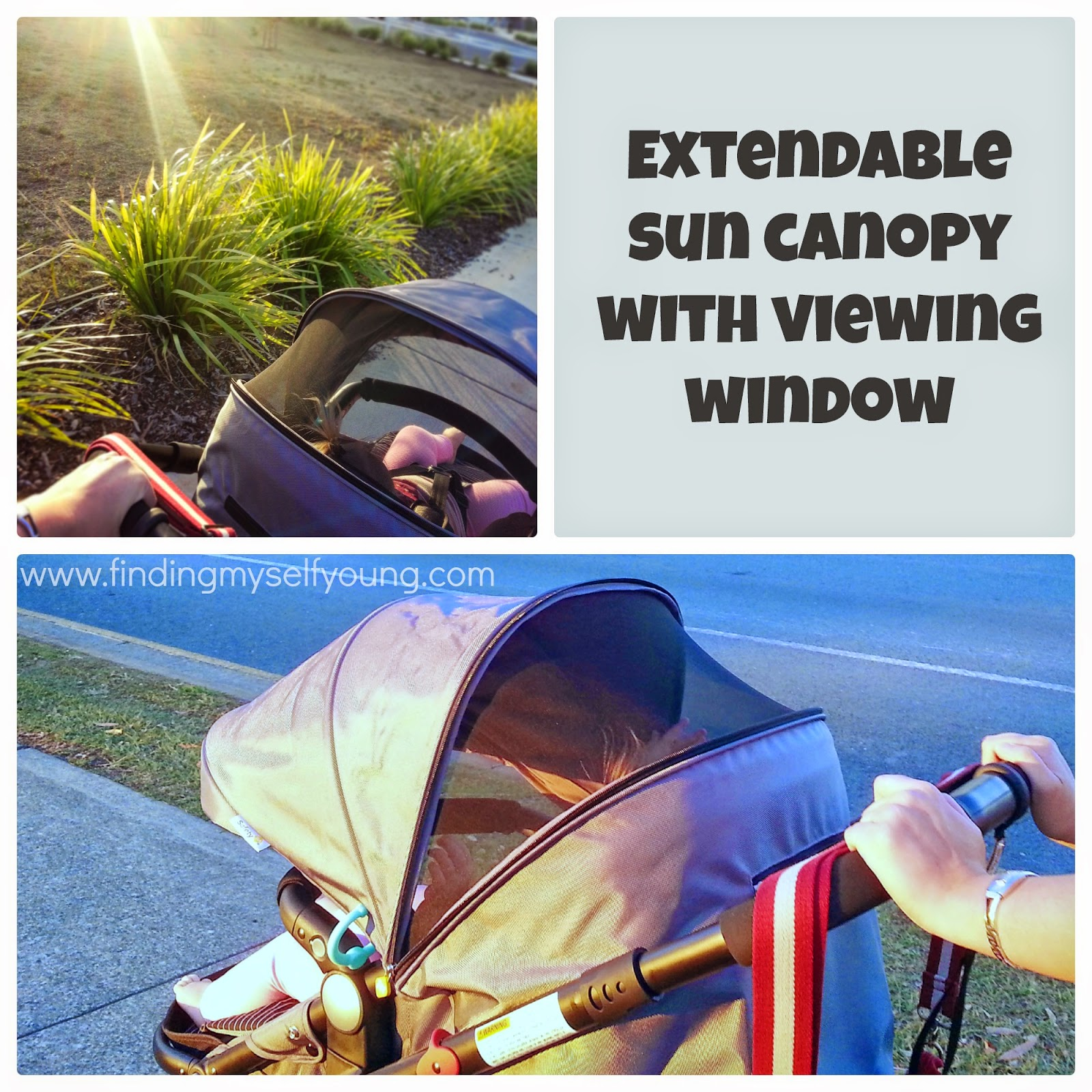 Safety 1st Wanderer 3 wheel pram extendible sun canopy