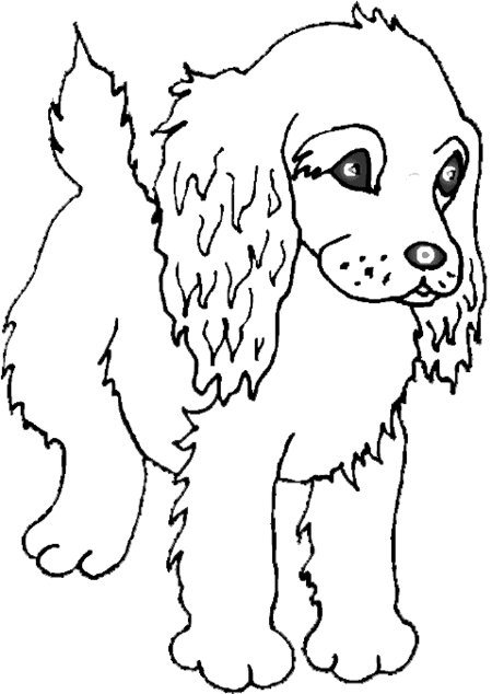 10 Funny Puppies Coloring Pages for Kids title=