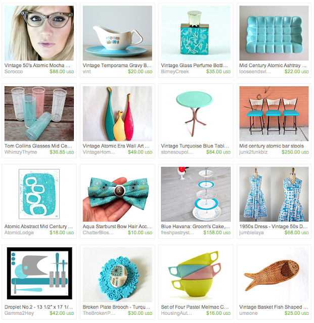 Retro Patio Party themed giftguide on Etsy