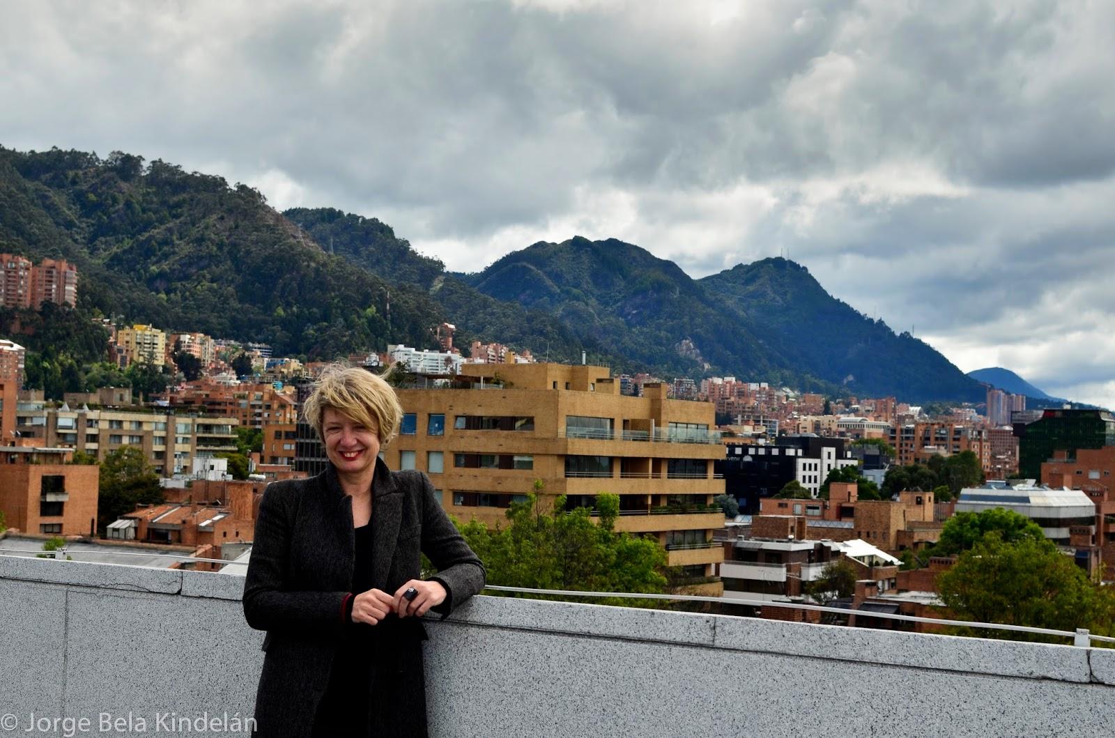 Marisa Martín en la azotea del NH Bogota 93. Foto: Jorge Bela