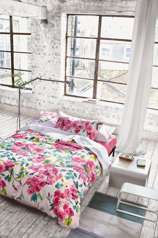 Shanghai garden peony de Designers Guild. Fundan nórdica y juego de sábanas