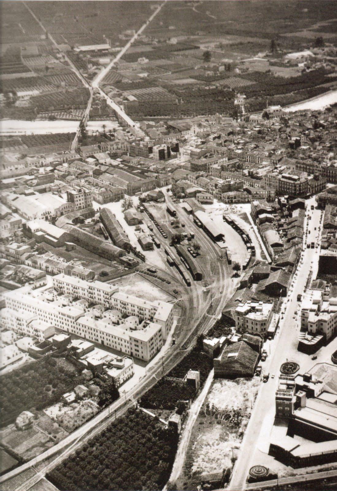 Estació del ferrocarril de Gandia en els anys 60