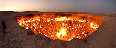 أجمل وأفضل صور, أجمل الصور الطبيعية, بوابة الحجيم, حقل غاز في تركمانستان,