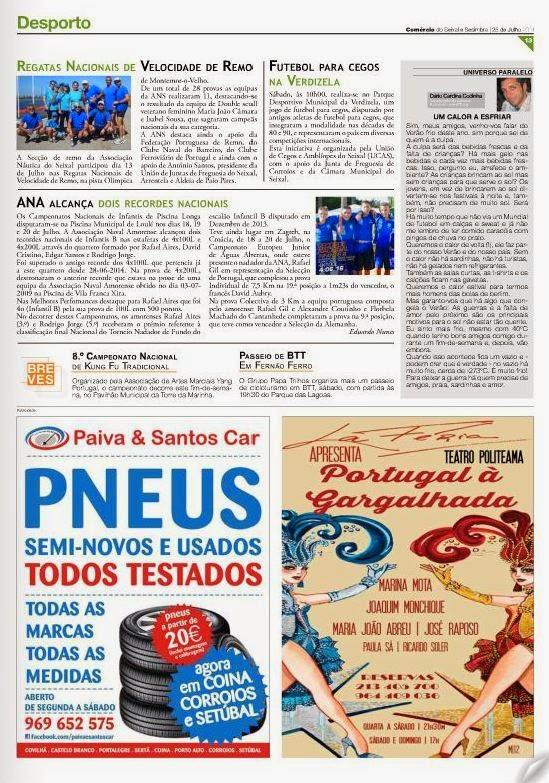 COMÉRCIO do SEIXAL e SESIMBRA EDIÇÃO nº262 de 25-07-2014