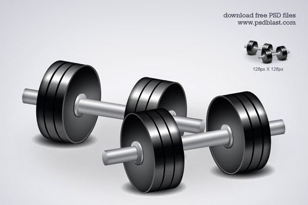 Fitness Icon Dumbbell Workouts PSD