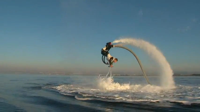 Pump-jet, Jet Pack Uses Water For Propulsion, athletic propulsion, Flippin' eck! Flyboard lets you become a human dolphin, hydrojet