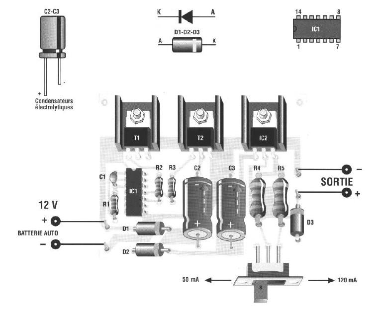 schema electronique gratuit montage schema chargeur de. Black Bedroom Furniture Sets. Home Design Ideas