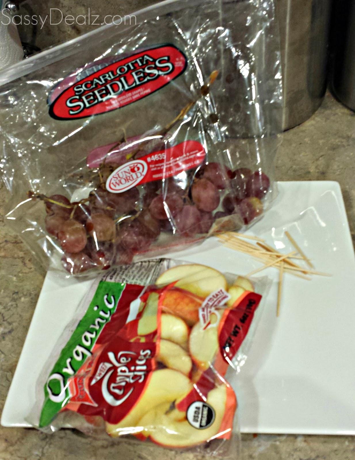 cute apple grapes car snacks
