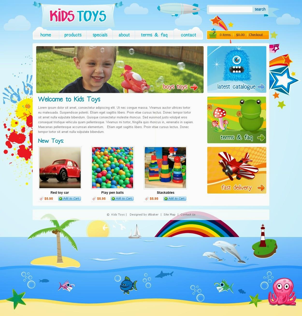 dịch vụ thiết kế web bán hàng đồ chơi