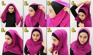 Koleksi Gambar Cara Memakai Jilbab Lengkap 2013