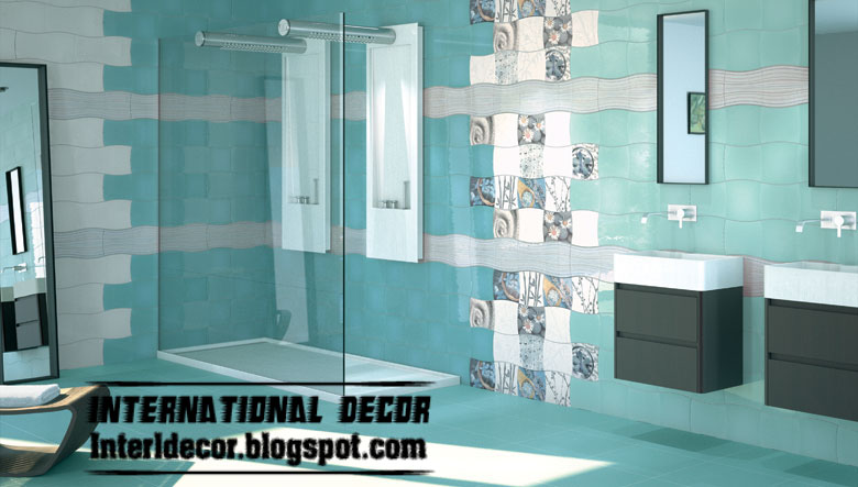 choose the best design and color of wall tile for bathroom