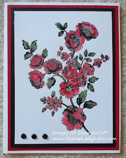Water color card made with Stampin'UP! set: Elements of Style