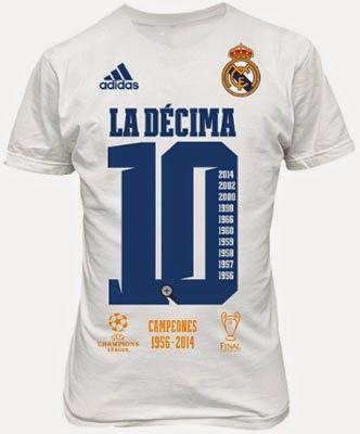 camiseta Real Madrid la Decima 10 Campeones Copa de Europa