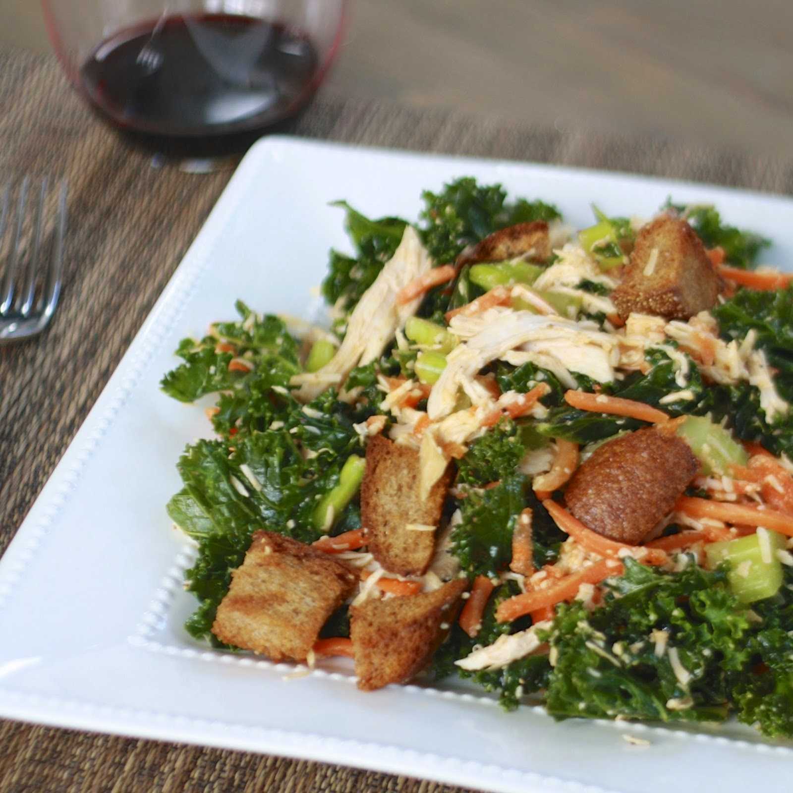 Buffalo Chicken Kale Salad | The Sweets Life