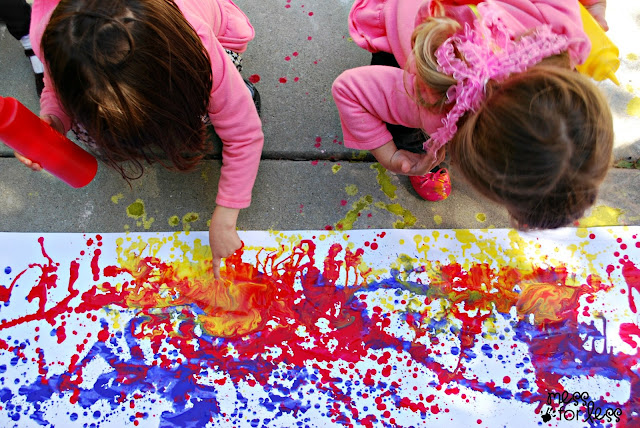 Squirt Painting for kids