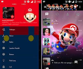 BBM Mod Tema Mario Bross Versi 2.10.0.35 Terbaru Android