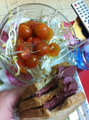 sandwich and salad