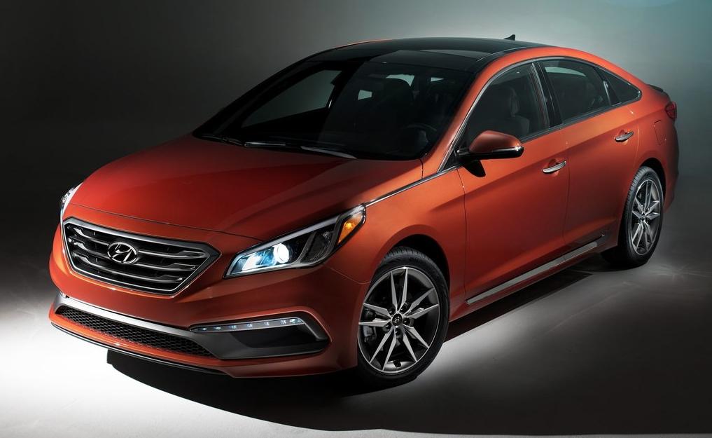 2015 Hyundai Sonata orange