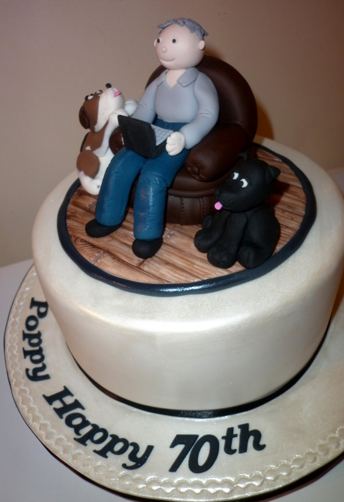Caketopia 70th Birthday Cake