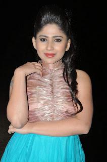 Madhulagan Das in Spicy Blue Dress cute Pics