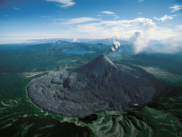 Karymsky - Giant Volcano in Russia, biggest volcano, only in russia, weird thing in russia