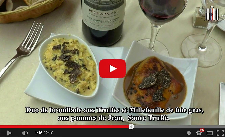 Le menu truffes de l'Auberge de la truffe à Sorges en Périgord (24).