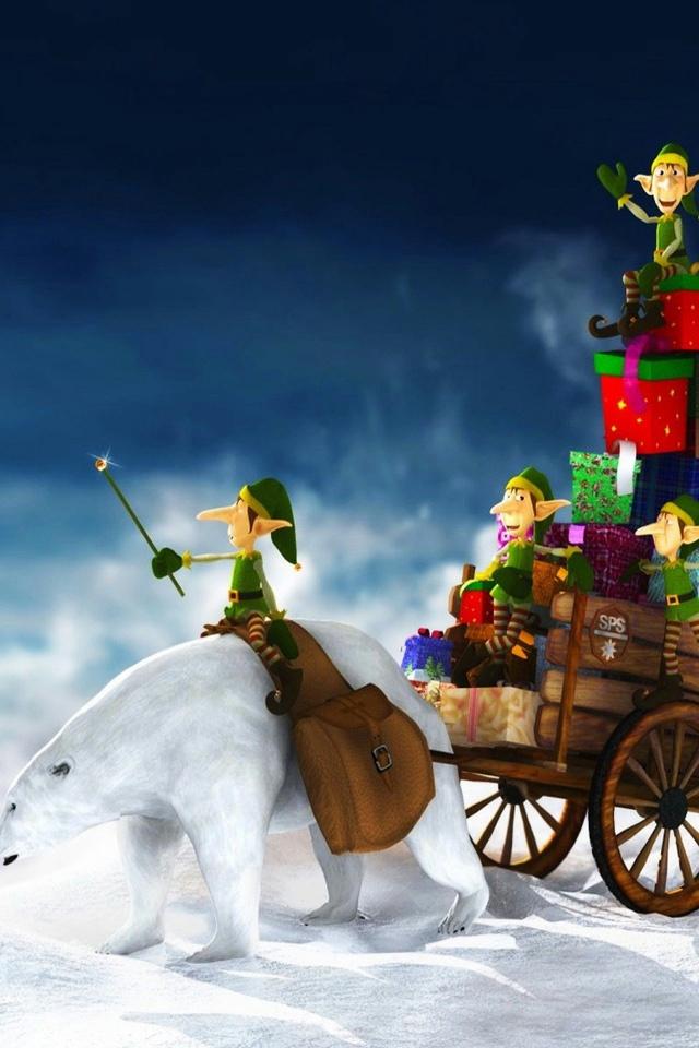 Christmas IPhone 4S Wallpaper 2