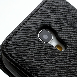 Leather Case Wallet With Credit Card Slot for Samsung Galaxy S4 Mini I9195 I9192 - Black