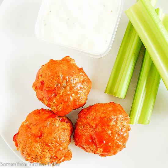 Lean Buffalo Style Meatballs