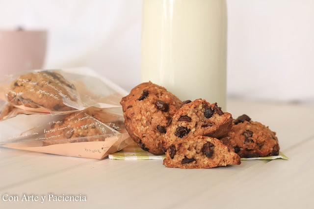 galletas, cookies,, avena, oat, pepitas, chocolate, pasas, caseras, homemade,azucar, moreno, buenisimas, horno, horno, harina, bicarbonato, especiales, diferentes, requetebuenas, trozos, masas, huevos, canela,