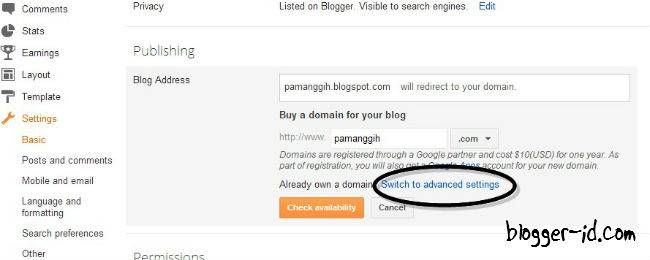 Blogger Custom Domain