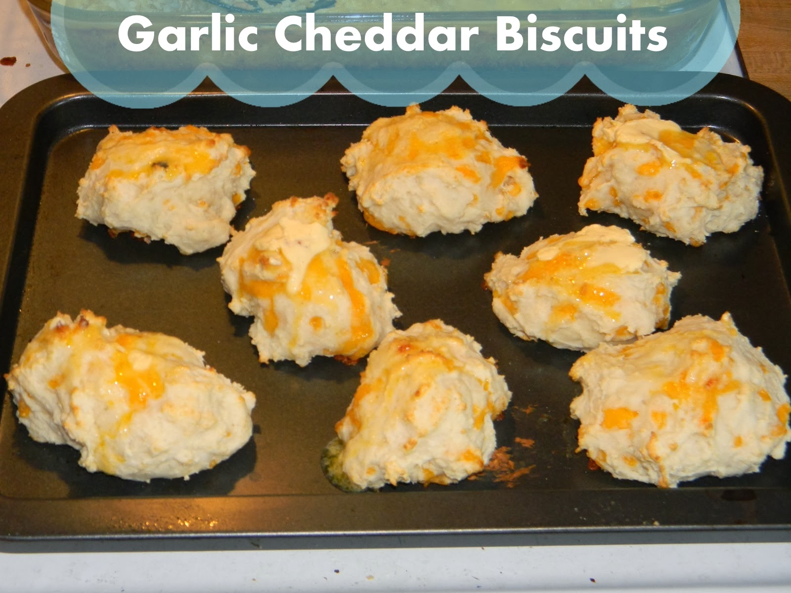 Growing to Four: Garlic Cheddar Biscuits