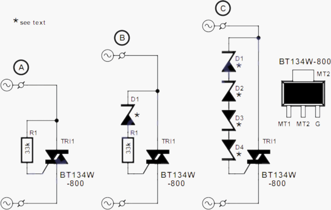 incandescent lamps life extender circuit project