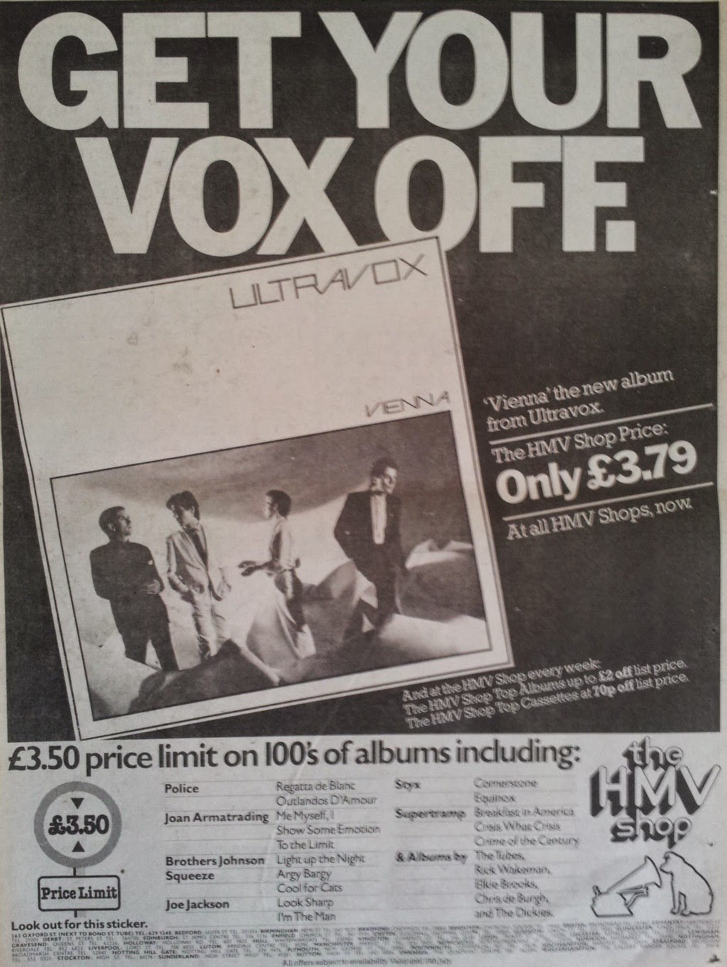 Ultravox vienna single
