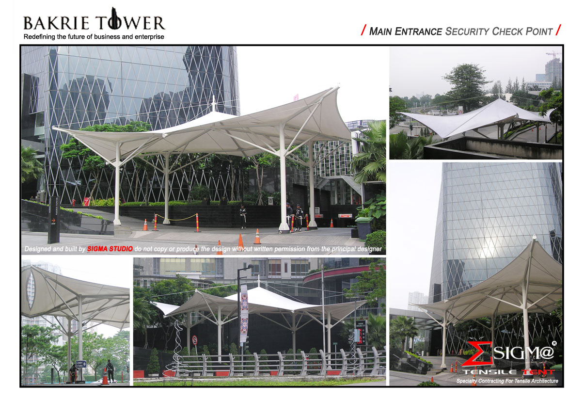 Bakrie Tower - Main Entrance Security Check Point & SIGMA TENSILE TENT: Bakrie Tower - Main Entrance Security Check Point