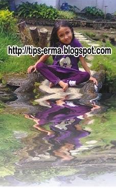 Efek Bayangan Objek Seperti Diatas Air