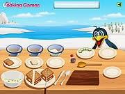 Món Sandwich cá hồi, chơi game nấu ăn online