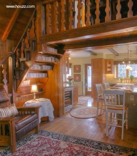 Arquitectura de casas espacio adicional aprovechado - Escalera de biblioteca ...