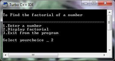 Factorial Using Loop Example Program In C++
