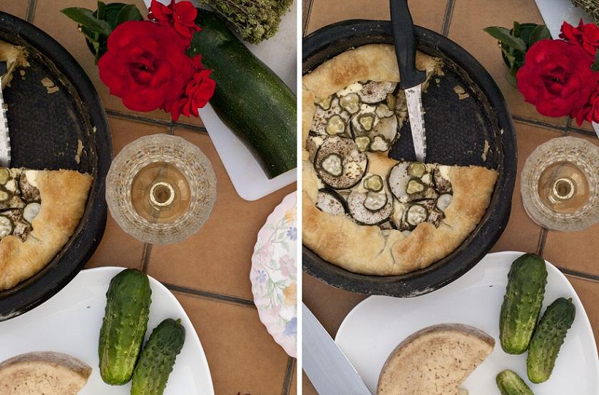 recette courgette, tarte, parmesan, salée, recette tarte, tarte aux légumes
