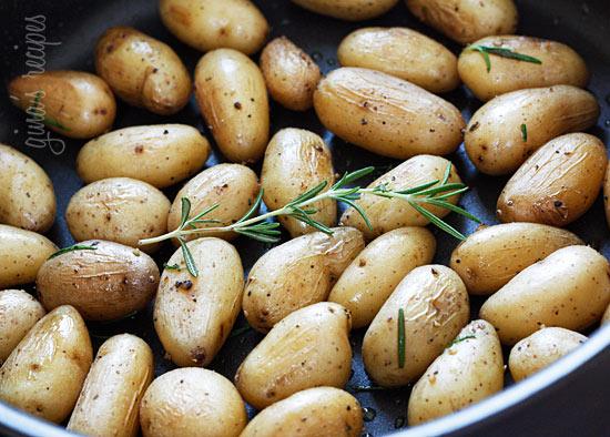 Teeny Tiny Potatoes With Rosemary Recipe — Dishmaps