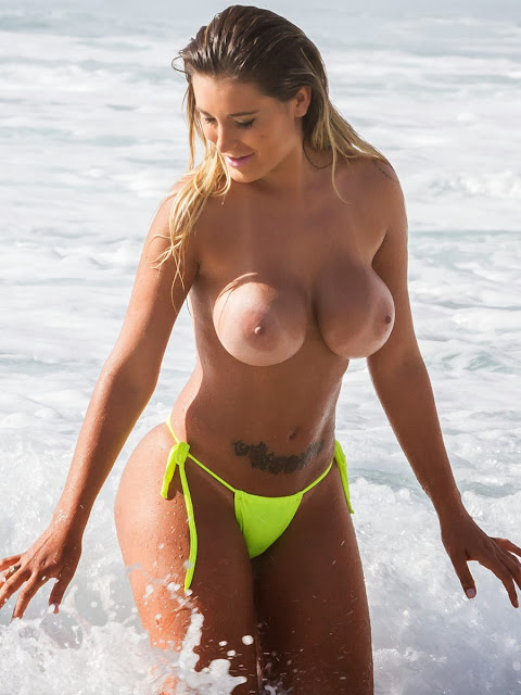 Andressa Urach Topless Bikini Photos On A Beach In Lisbon