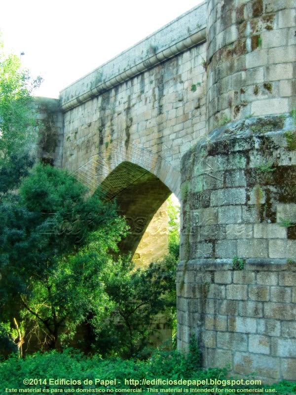 Puente Romano de Ourense, detalle de la construcción