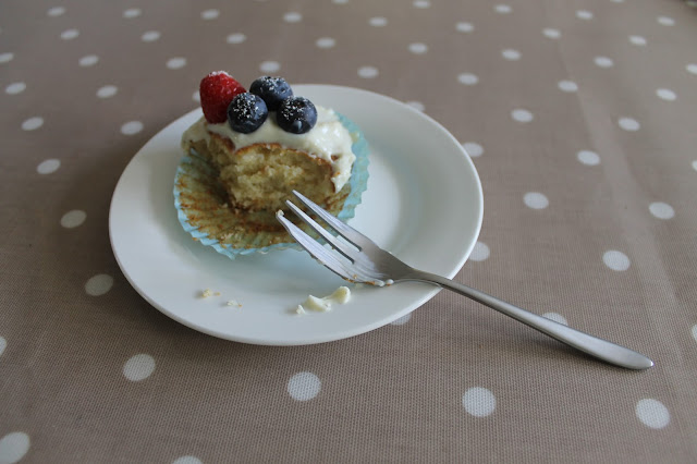 Baking: Low Fat and Guilt-Free White Chocolate and Berry Cupcakes Recipe