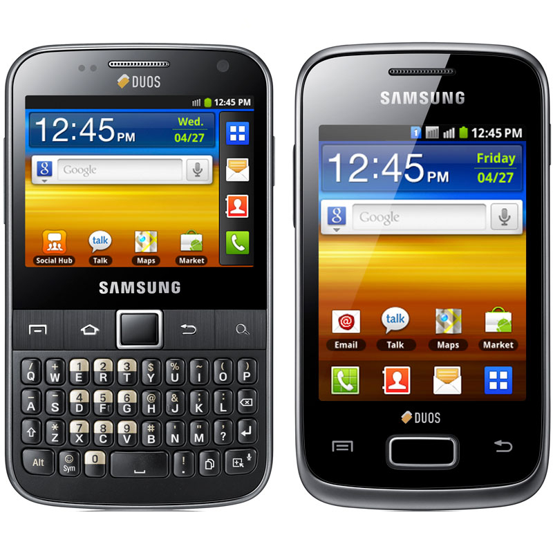 Samsung Galaxy Y Pro Duos and Galaxy Y Duos