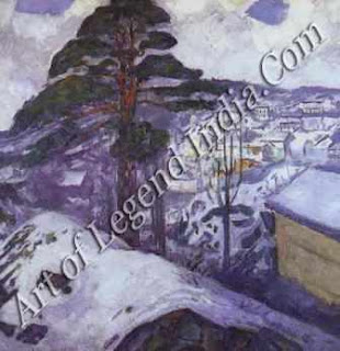 "The Great Artist Edvard Munch Painting ""Winter in Kragero"" 7972 51 ¼   X 51 ½ Munch Museum, Oslo"