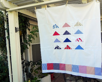 JaniceElaineSews Baby quilt, red white and blue